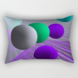converging lines and balls -3- Rectangular Pillow