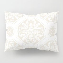 Exclusive floral tile pattern in light beige Pillow Sham