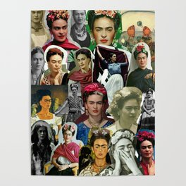 Frida Kahlo Collage Poster