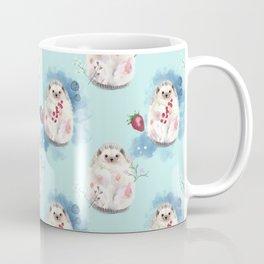 Hedgehog with fruits and flowers Coffee Mug