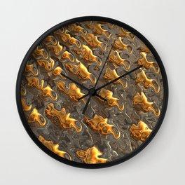 Abstract Melting Metal  Wall Clock