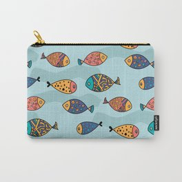 Colorful fish pattern Carry-All Pouch