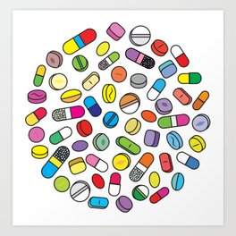 Drugs N Pills Art Print