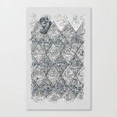 argyle stone age Canvas Print
