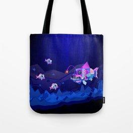 Anglerfish, lie and bioluminescence Tote Bag
