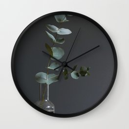 Eucalyptus leaves in the afternoon Wall Clock