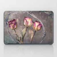 depression iPad Cases featuring Trapped Roses by Maria Heyens