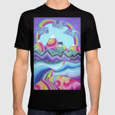 Somewhere Over The Rainbow Mens Fitted Tee MEDIUM Black