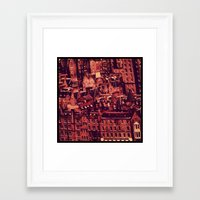 edinburgh Framed Art Prints featuring Edinburgh by Molly Smiles