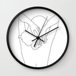 Woman's body line drawing - Cece Wall Clock