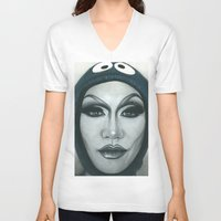 cookie V-neck T-shirts featuring Cookie by Tom Christophersen Creates