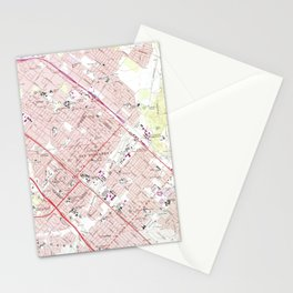 Vintage Map of San Fernando California (1966) Stationery Cards