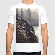 The Lookout Mens Fitted Tee White MEDIUM