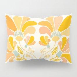 Summer Wildflowers in Golden Yellow Pillow Sham