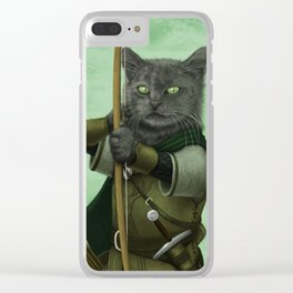 Ranger Cat Clear iPhone Case