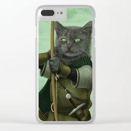 Ranger Cat Clear iPhone Case