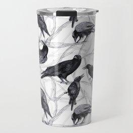 Crow Pattern Travel Mug
