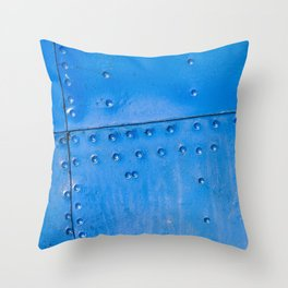 Abstract Of Blue Fuselage Of The Vintage Aircraft Throw Pillow