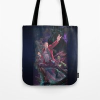 guardians of the galaxy Tote Bags featuring Guardians Of The Galaxy by Arashi.C