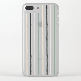 Blush tones abstract modern geometrical  pattern Clear iPhone Case