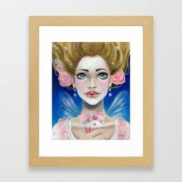 Let them eat cupcakes! Marie Antoinette Framed Art Print