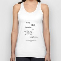 telephone Tank Tops featuring Telephone by PintoQuiff