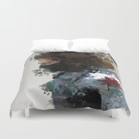 bucky Duvet Covers featuring Winter Soldier Water Colour by Scofield Designs