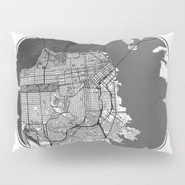 San Francisco Map Universe Pillow Sham