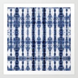 Tiki Shibori Blue Art Print