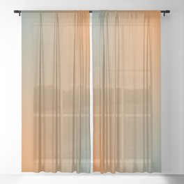 Blue Orange Salad Sheer Curtain