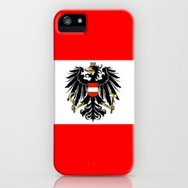Austrian Flag and Coat of Arms iPhone Case