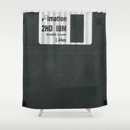 Retro 80's objects - Diskette Shower Curtain