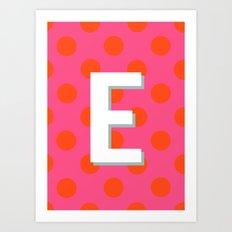 E Custom Listing Art Print