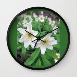 Fresh in White Wall Clock