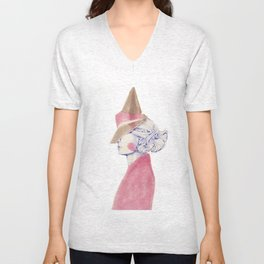 A Touch of Pink Unisex V-Neck