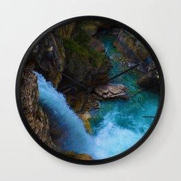 Stanley Waterfall & Beauty Creek in Jasper National Park, Canada Wall Clock