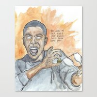 oitnb Canvas Prints featuring Poussey OITNB by Ashley Rowe