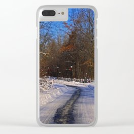 Frosty Footpath Clear iPhone Case