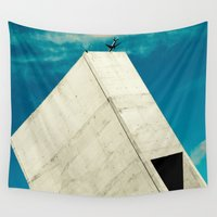 engineer Wall Tapestries featuring RETHINK #1 by premedia