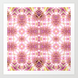 Pink Energy Glow #3 Art Print