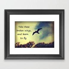 Take these broken wings Framed Art Print