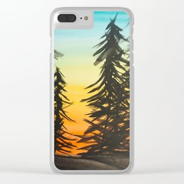 Black Forest Clear iPhone Case