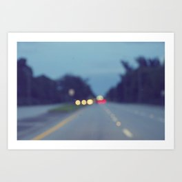 Blurry Road Art Print