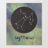 sagittarius Canvas Prints featuring Sagittarius by snaticky