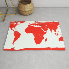 World Map red Rug