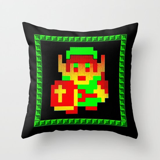 The Legend of Zelda (Link with Shield) Throw Pillow by Silvio Ledbetter Society6
