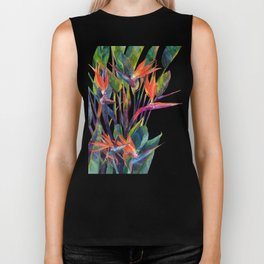 The bird of paradise Biker Tank