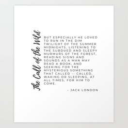 Call of the Wild by Jack London Typography by Christie Olstad Art Print