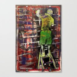 Stepladder Tagger Canvas Print