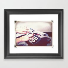 typwriter Framed Art Print